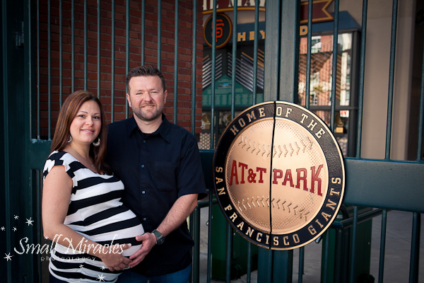 Giants Fun! Maternity Photo Shoot at AT&T Park San Francisco