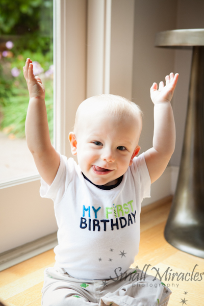 baby boy turns one year old and celebrates