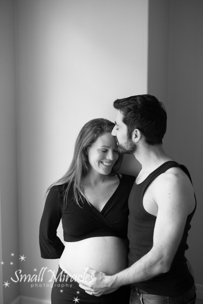 Pregnancy photos of loving couple