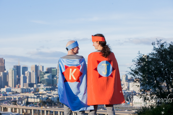 Superhero family photo session in san francisco