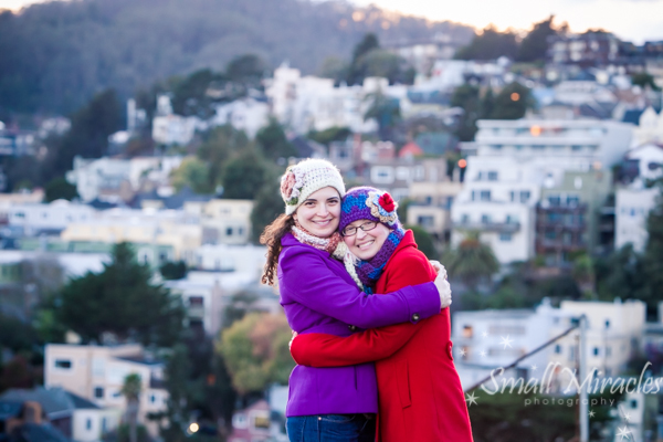 Sister photo session in San Francisco