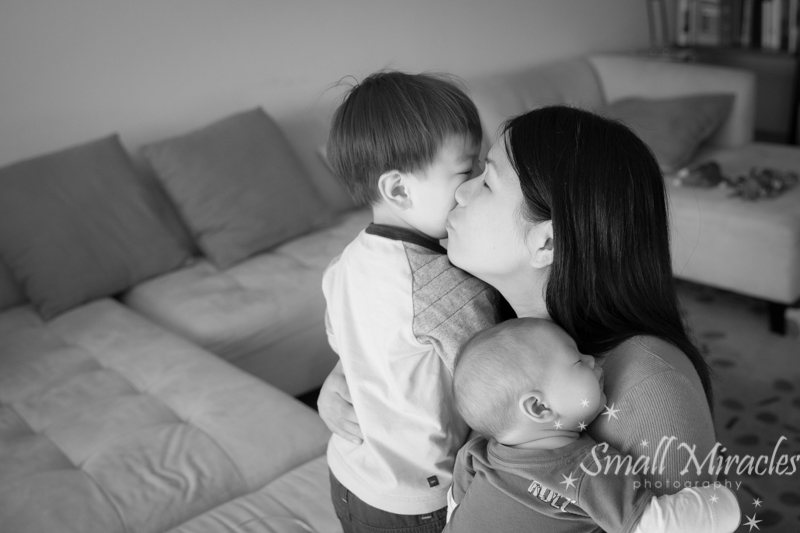 mom with two little sons