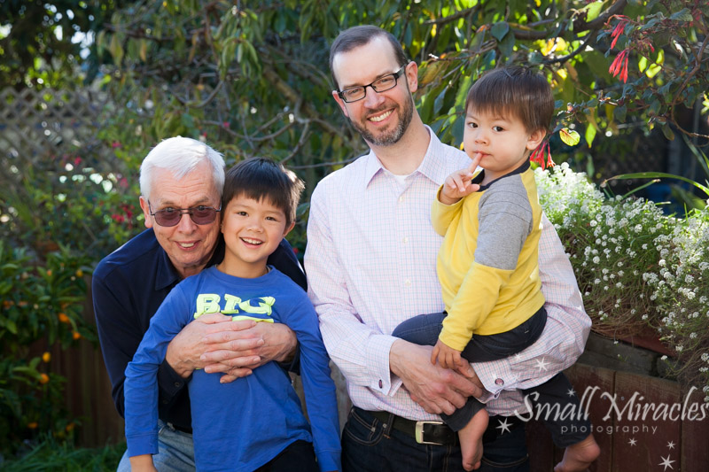 multigenerational family portrait san francisco